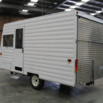 Custom built 13ft caravan car transporters